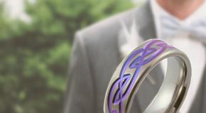 Men's Zirconium Wedding Rings