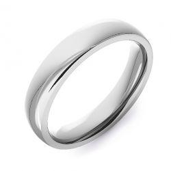 Modern Court Plain | Platinum, White Gold, Palladium Wedding Rings