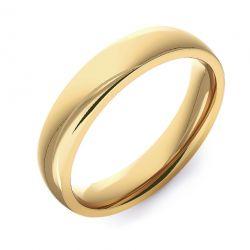 Modern Court Plain | Yellow Gold Wedding Rings