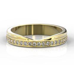 Cutout Shaped and Diamond Set Ring | Yellow Gold