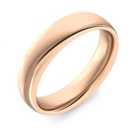 Classic Court Plain   Rose Gold Wedding Rings