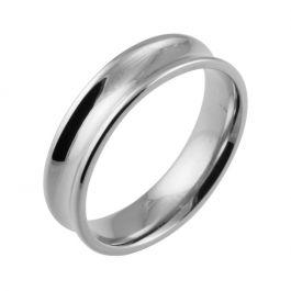 Classic Concave Plain   White Gold, Platinum, Palladium Wedding Rings