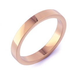 Classic Flat Plain | Rose Gold Wedding Rings