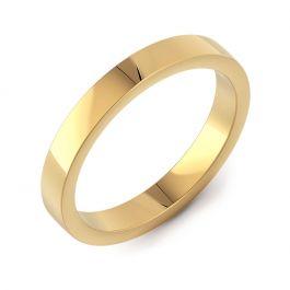 Classic Flat Plain   Yellow Gold Wedding Rings