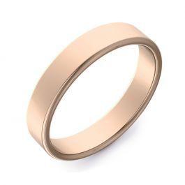 Double Comfort Flat Plain   Rose Gold Wedding Rings