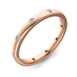 2.5mm Court with Ten Round Diamonds | Rose Gold
