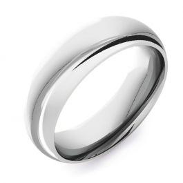 Domed Court Plain | White Gold, Palladium, Platinum Wedding Rings