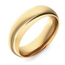 Domed Court Plain | Yellow Gold Wedding Rings