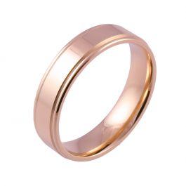 Shoulder Cut Flat Comfort Fit | Rose Gold Wedding Rings