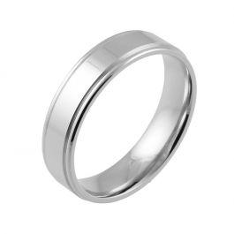 Shoulder Cut Flat Comfort Fit | White Gold, Palladium, Platinum Wedding Rings