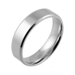 Bevelled Edge Polished Flat Court | White Gold, Palladium, Platinum Wedding Rings