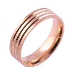 Three Equal Grooves | Rose Gold