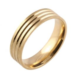 Three Equal Grooves | Yellow Gold