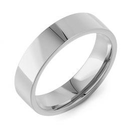 Flat Court Plain   Palladium, Platinum, White Gold Wedding Rings