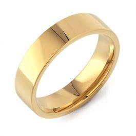 Flat Court Plain | Yellow Gold Wedding Rings