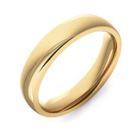 Modern Court Plain   Yellow Gold Wedding Rings
