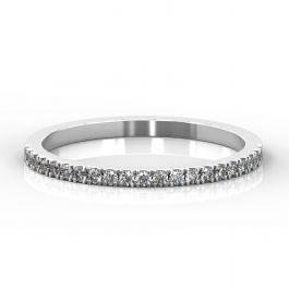 1.5mm Micro Claw Set Half Eternity Ring | White Gold, Platinum
