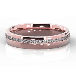 4mm Offset Diamond Eternity Ring   Rose Gold
