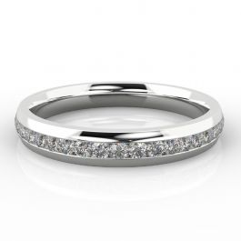 3.5mm Channel Set Eternity Ring   White Gold, Palladium, Platinum