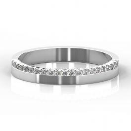 3mm Claw Set Diamond Half Eternity Style Ring   Platinum, White Gold, Palladium