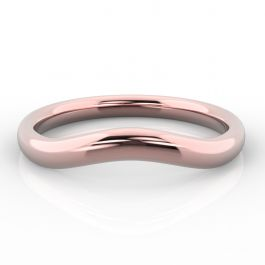 Gentle Curve Shaped | Rose Gold Wedding Rings