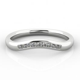 Gentle Curve Shaped Ring with Channel Set Diamonds