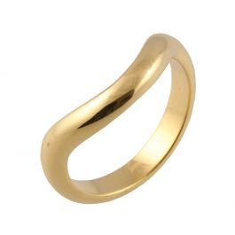 Large Curved Classic D Shape | Yellow Gold Wedding Rings