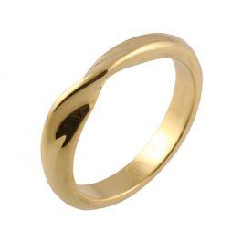 Classic Mobius Twist Shape | Yellow Gold Wedding Rings