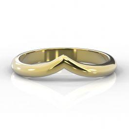 Wishbone Shaped Classic D | Yellow Gold Wedding Rings