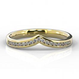 Wishbone with Channel Set Diamonds | Yellow Gold