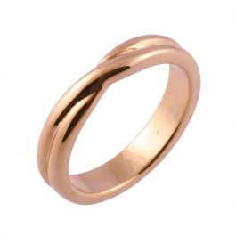 Crossover Twist Shape | Rose Gold Wedding Rings
