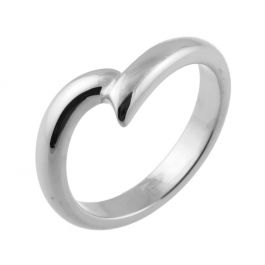 Wave Shaped | White Gold, Palladium, Platinum Wedding Rings