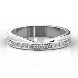 Cutout Shaped and Diamond Set Ring | Palladium, White Gold, Platinum