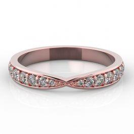Bow Shape with Grain Set Diamonds | Rose Gold