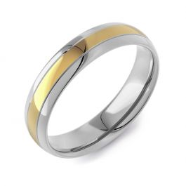 Classic Court Two Tone   Yellow Gold Inlay