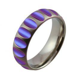 Purple Cut-Out Zirconium Wedding Ring
