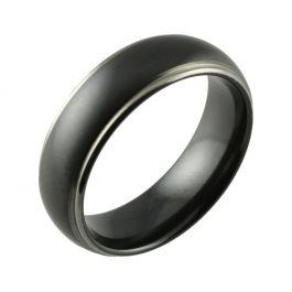 Black Zirconium Two Tone Shouldercut Wedding Ring
