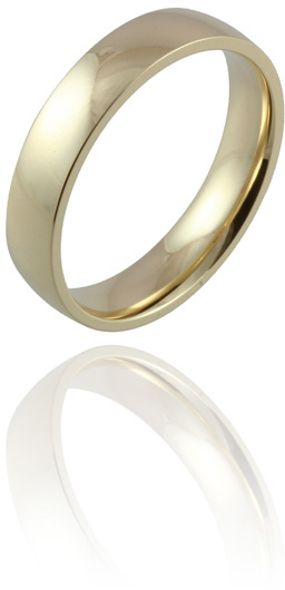 Gold Wedding Ring, Band for Women & Men