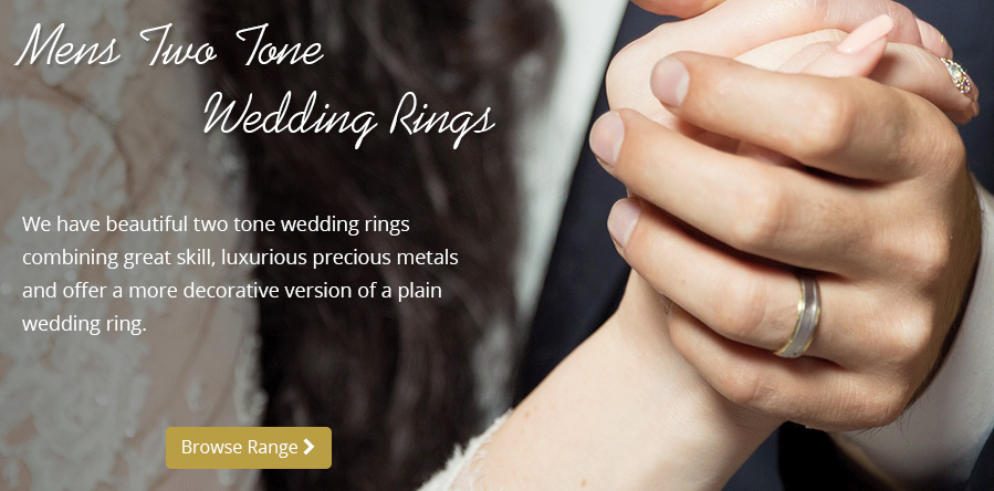 Men's Two Tone Wedding Bands